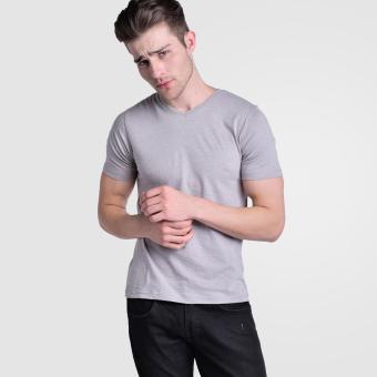 Huga Activewear Grey V-Neck Tee - 4