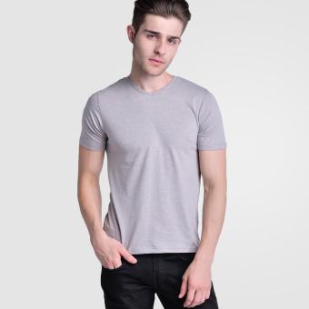Huga Activewear Grey V-Neck Tee - 2