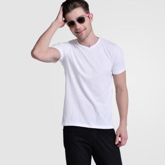 Huga Activewear White V-Neck Tee