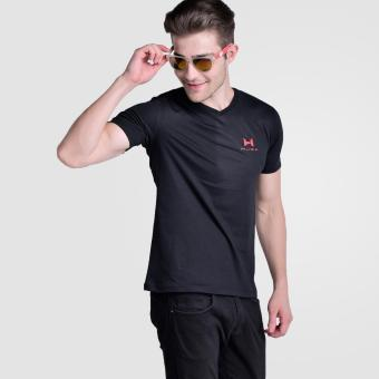 Huga Classic V-Neck Tees Black Price Philippines