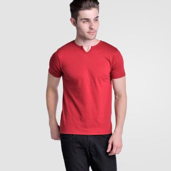 Huga V- Neck 2.0 Moroccan Tee (Burgundy Red) Price Philippines