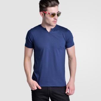 Huga V- Neck 2.0 Moroccan Tee (Navy Blue) Price Philippines