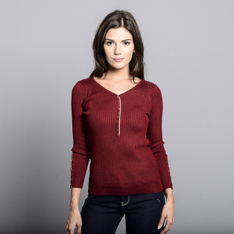Huxley Imperial Long Sleeve Knitted (Maroon)