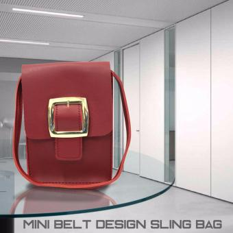 HW Mini Belt Design Sling Bag (Maroon)