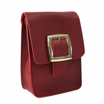 HW Mini Belt Design Sling Bag (Maroon) - 2