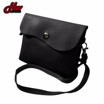 HW Mini Leather 2 Purpose Sling Bag (Black)