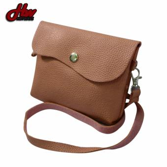 HW Mini Leather 2 Purpose Sling Bag (Brown)