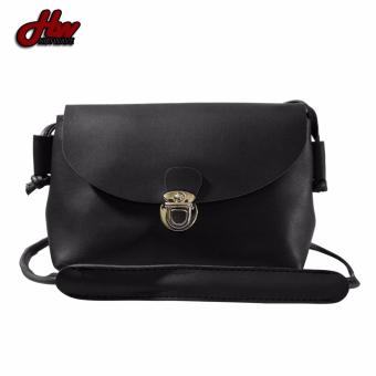 HW Mini Leather Casual Sling Bag (Black) - 2