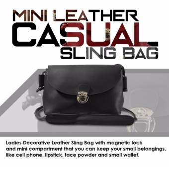 HW Mini Leather Casual Sling Bag (Black)