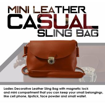 HW Mini Leather Casual Sling Bag (Brown)