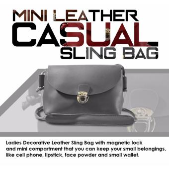 HW Mini Leather Casual Sling Bag (Gray)