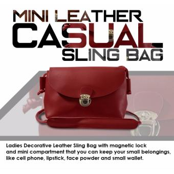 HW Mini Leather Casual Sling Bag (Maroon)