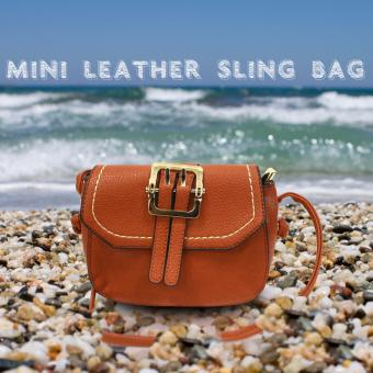 HW Mini Leather Sling Bag (Brown)