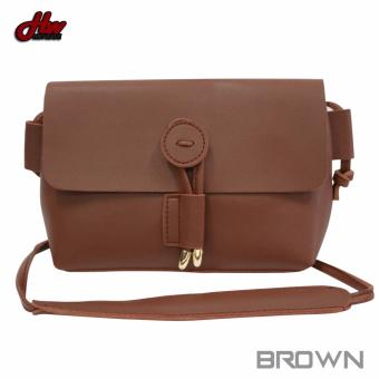 HW Mini Leather Tie Sling Bag (Brown)