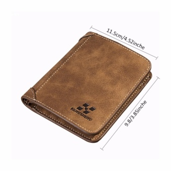 HYX HOT DEAL!!!Men PU Leather Coin Purse Pockets Card Holder Clutch Wallet(Coffee) - intl - 3