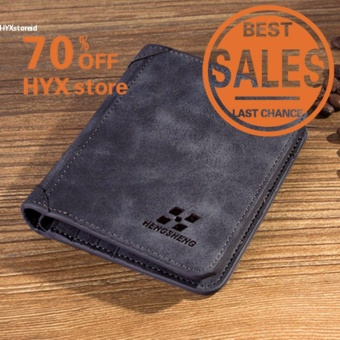 HYX HOT DEAL!!!Men PU Leather Coin Purse Pockets Card Holder Clutch Wallet(Navy Blue) - intl