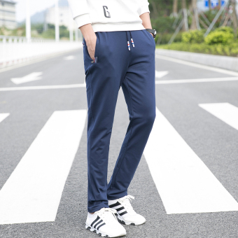 I casual thin quick-drying running fitness pants trousers (Shen Lan)