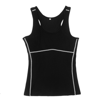 I dance fitness slim fit wicking clothing (Black)