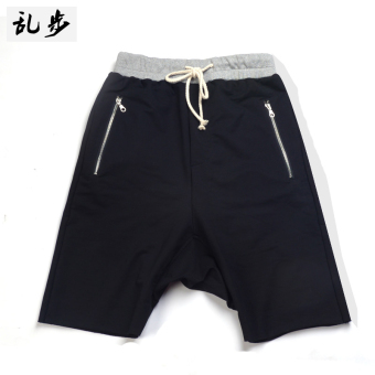 I European and American youth student short shorts hip hop pants (Justin shorts black)