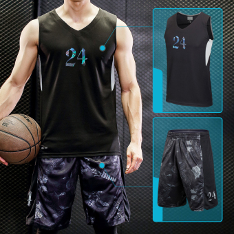 I kb24 serpentine camouflage Basketball Training shorts (KB vest + serpentine shorts)