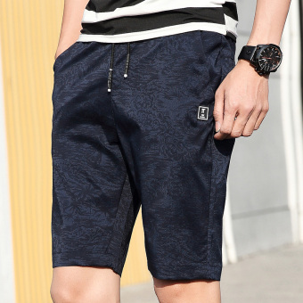 I Korean-style Slim fit camouflage printed casual pants men's shorts (Shen Lan)