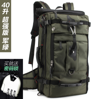 I men travel bag travel backpack (Ultra-strength version 40 L dark green)