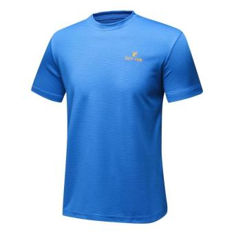 I outdoor New style short sleeved quick-drying T-shirt (Color Blue)
