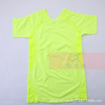 I outdoor quick-drying running fitness yoga clothes T-shirt (Yellow)
