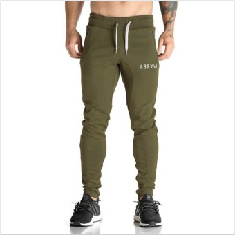 I Slim fit quick-drying training pants men pants (Dark green color)