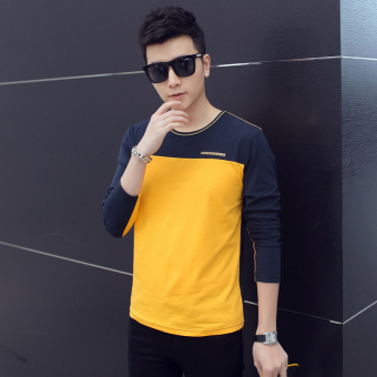 I spring men's long-sleeved t-shirt (Yellow)