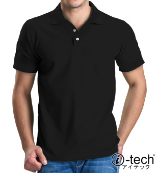 I-tech Blank Polo Shirt (Black)