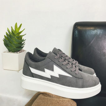 I versatile female thick bottomed shoes New style casual shoes (Dark gray color)
