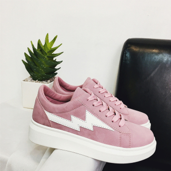I versatile female thick bottomed shoes New style casual shoes (Pink)
