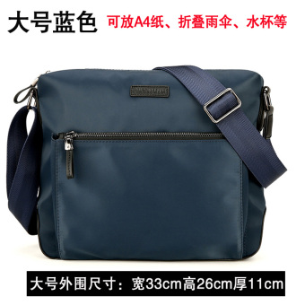 I waterproof Oxford Cloth large capacity men's bag shoulder bag (Large blue ())