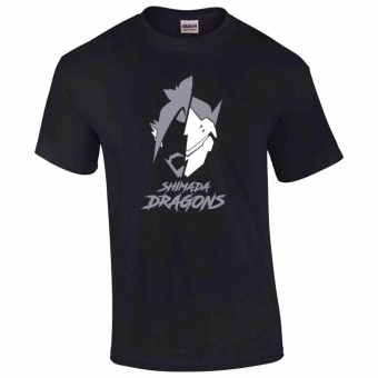 iGPrints Shimada Dragons Genji and Hanzo Overwatch Heroies InspiredLogo T-Shirt (Black) Price Philippines