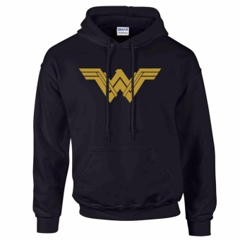iGPrints WONDER WOMAN Logo Inspired Justice League DC Hoodie Jacket(Black)