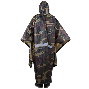 Bluefield 3 in 1 Multi Function Raincoat Outdoor Camping Waterproof Packable Poncho - intl Price Philippines