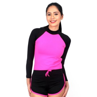 Island Paradise Rash Guard for Women (Pink) Price Philippines