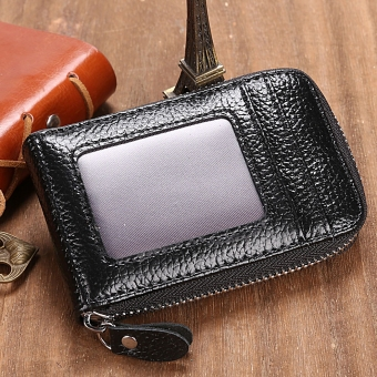 GETEK Mini Synthetic Leather Wallet ID Credit Cards Holder (Black) Price Philippines