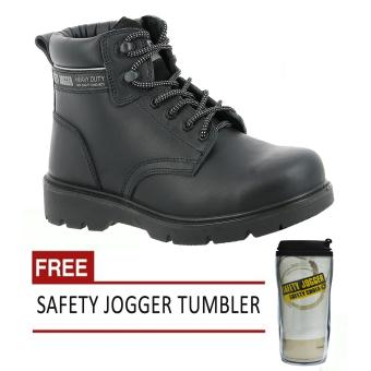Harga Safety Jogger X1100N S3 High Cut Men Safety Shoes Footwear Composite Toe (Black) with Free Safety Jogger Tumbler