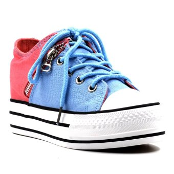 Harga New York Sneakers Murphy Shoes (Light Blue/Pink)