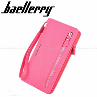 Baellery Women Fashion Elegant Long Zipper Wallet Clutch Purse Pink Price Philippines