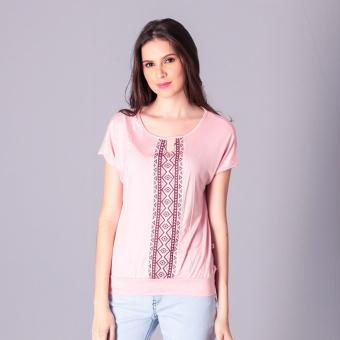 No Apologies Knitted Jap. Cotton Blouse S/S (Peach) Price Philippines