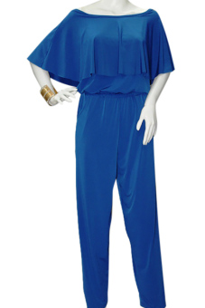 Harga Marian Off Shoulder Jumpsuit (Blue)