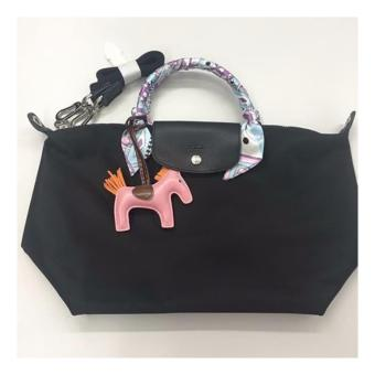 Harga LC Le Pliage Neo Medium short handle Free Twilly & Charm Original (BLACK) Made in France SHORT HANDLE