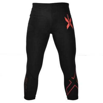 Compression Pants Muscle Containment Stamping 3/4 Compression Tights (Red) Price Philippines
