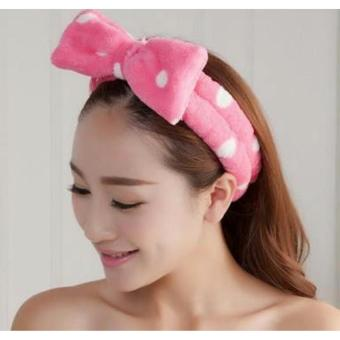 Jessica Polka Dot Hair Band (Hotpink) Price Philippines