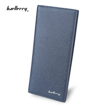 Baellerry Thin Soft Solid Color Long Vertical Photo Cash Card Wallet for Men Price Philippines