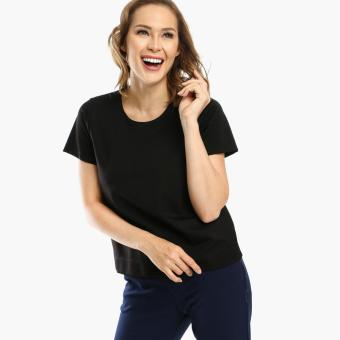 Harga SM Woman Prima Ponte Boxy Top (Black)