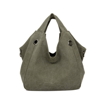 360WISH Fashion Special Design Large Capacity Canvas Women Tote Handbags Hobo Bag - Army Green - Intl Price Philippines
